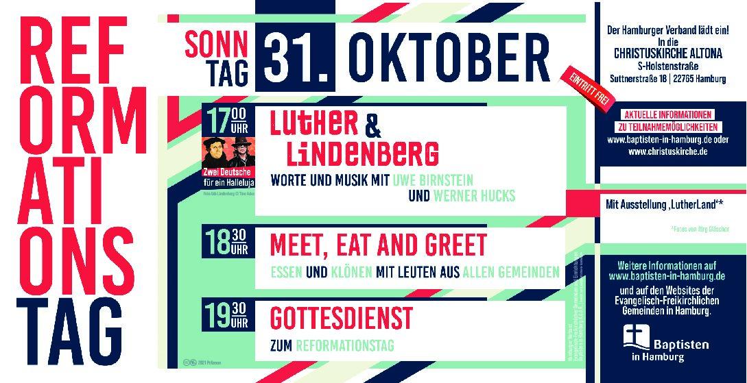 Save the date! Reformationstag in der Christuskirche! 17:00 - 20:30 Uhr!